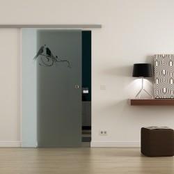 Levidor ProfiSlide SoftClose-Schiebetür Vögel-Design