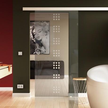 Glasschiebetür Rekursiv-Design (R) Basic-Beschlag Levidor / Glaslager.de