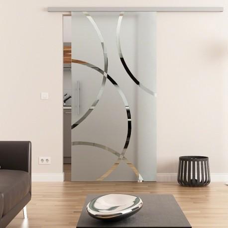 Dorma Agile 50 Glasschiebetür Circle-Design (C)