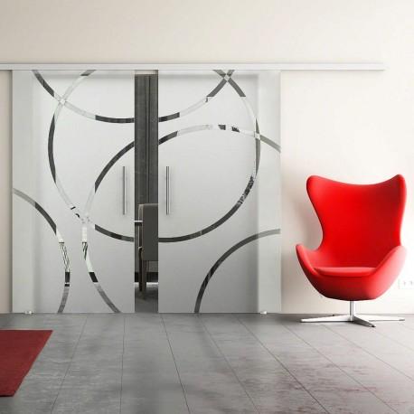 Dorma Agile 50 Glasschiebetür Circle-Design (CD) 2 Scheiben