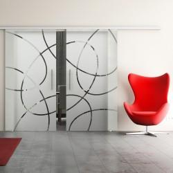 Dorma Agile 50 Glasschiebetür Ellipsen-Design (EF) 2 Scheiben