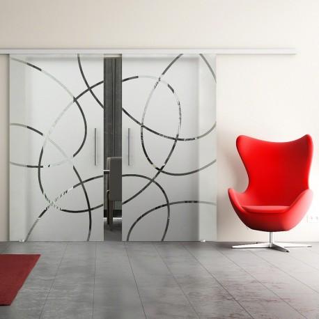 Dorma Muto 60 Glasschiebetür Ellipsen-Design (EF) 2 Scheiben