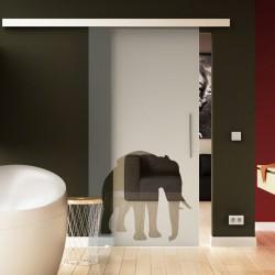 Glasschiebetür Elefanten-Design (4) Tier-Design Sonderdesign Exklusiv