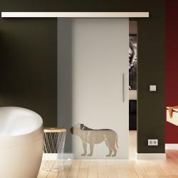 Glasschiebetür Basic-Beschlag Levidor / Glaslager.de Hund - Design
