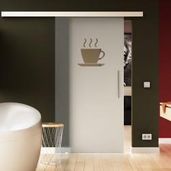 Glasschiebetür Basic-Beschlag Levidor / Glaslager.de Küchen-Design (2)