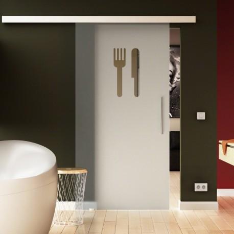 Glasschiebetür Basic-Beschlag Levidor / Glaslager.de Küchen-Design (3)