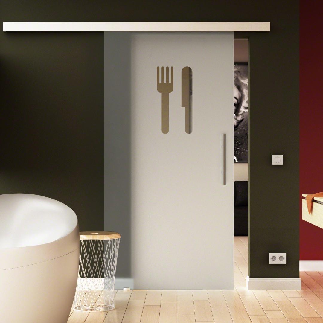 Glasschiebetüre Küchen-Design (3) komplett Esszimmer & Küche ...