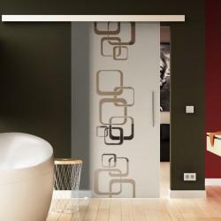 Glasschiebetür Ketten-Design Basic-Beschlag Levidor / Glaslager.de