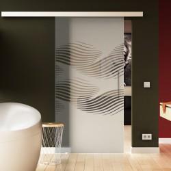 Glasschiebetür Luft-Design Basic-Beschlag Levidor / Glaslager.de