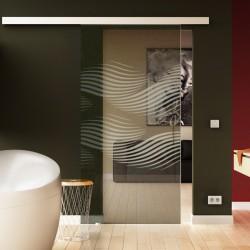 Glasschiebetür Luft-Design (invers) Basic-Beschlag Levidor / Glaslager.de