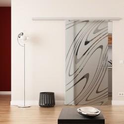 Dorma Agile 50 Glasschiebetür Wasser-Design