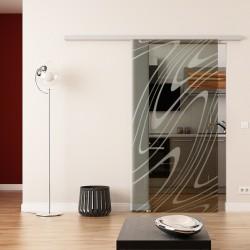 Dorma Agile 50 Glasschiebetür Wasser-Design (invers)