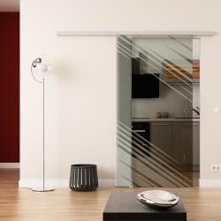 Dorma Agile 50 Glasschiebetür Stadt-Design (invers)