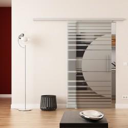 Dorma Agile 50 Glasschiebetür Orbit-Design