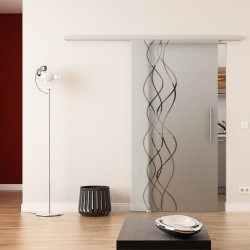 Dorma Agile 50 Glasschiebetür Rauch-Design