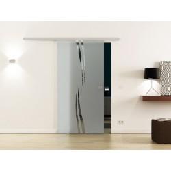 Levidor SoftClose-Schiebetür Wellen-Design (A)