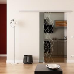 Dorma Agile 50 Glasschiebetür Rauch-Design (invers)