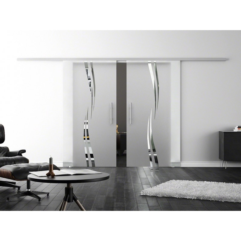 levidor softclose schiebet r profislide wellen design a 2 glasscheiben. Black Bedroom Furniture Sets. Home Design Ideas