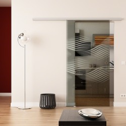 Dorma Agile 50 Glasschiebetür Luft-Design (invers)