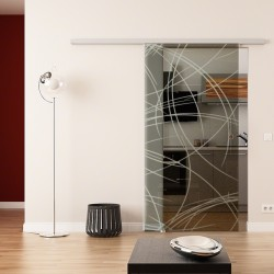 Dorma Agile 50 Glasschiebetür Kurven-Design (2 - invers)