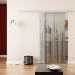 Dorma Agile 50 Glasschiebetür Strich-Design