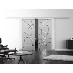 Levidor ProfiSlide SoftClose-Schiebetür Ellipsen-Design (EF) 2 Glasscheiben