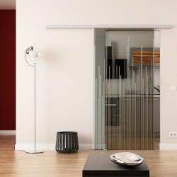 Dorma Agile 50 Glasschiebetür Strich-Design (invers)
