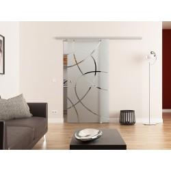 Dorma Agile 50 Glasschiebetür Ellipsen-Design (E)