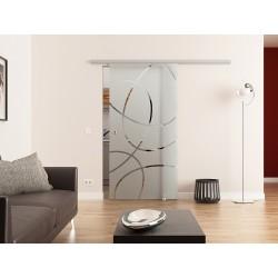 Dorma Muto 60 Glasschiebetür Ellipsen-Design Frankfurt (F)