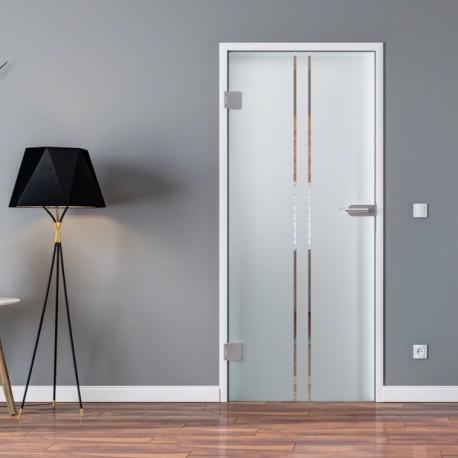 ganzglast r aus esg glas in satiniert milchglas 2. Black Bedroom Furniture Sets. Home Design Ideas