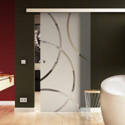 Glasschiebetür Circle-Design (C) Basic-Beschlag Levidor / Glaslager.de