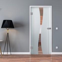 Ganzglastür Drehtür aus ESG-Glas in Berlin-Design für Studio Griff und Studio Bänder oder Studio / Office