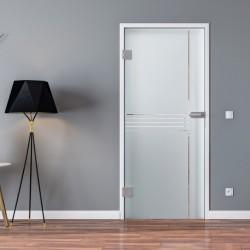 Ganzglastür Drehtür aus ESG-Glas in Idea-Design für Studio Griff und Studio Bänder oder Studio / Office