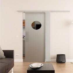 Dorma Muto 60 Glasschiebetür mit Kreis-Design / Guck-Loch