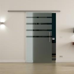 Levidor ProfiSlide SoftClose-Schiebetür Streifen-Design oben