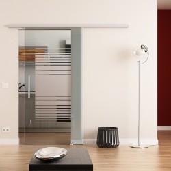 Dorma Muto 60 Glasschiebetür Lamellen-Streifen mit Klarglas-Streifen