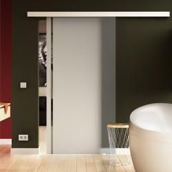 Glasschiebetür ein senkrechter Streifen-Design Griff - Schiebe Tür Glas