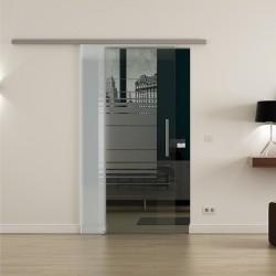 Levidor ProfiSlide SoftClose-Schiebetür Horizont-Design mit Klarglas Links und Rechts