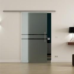 Levidor ProfiSlide SoftClose-Schiebetür zwei Streifen-Design Mitte
