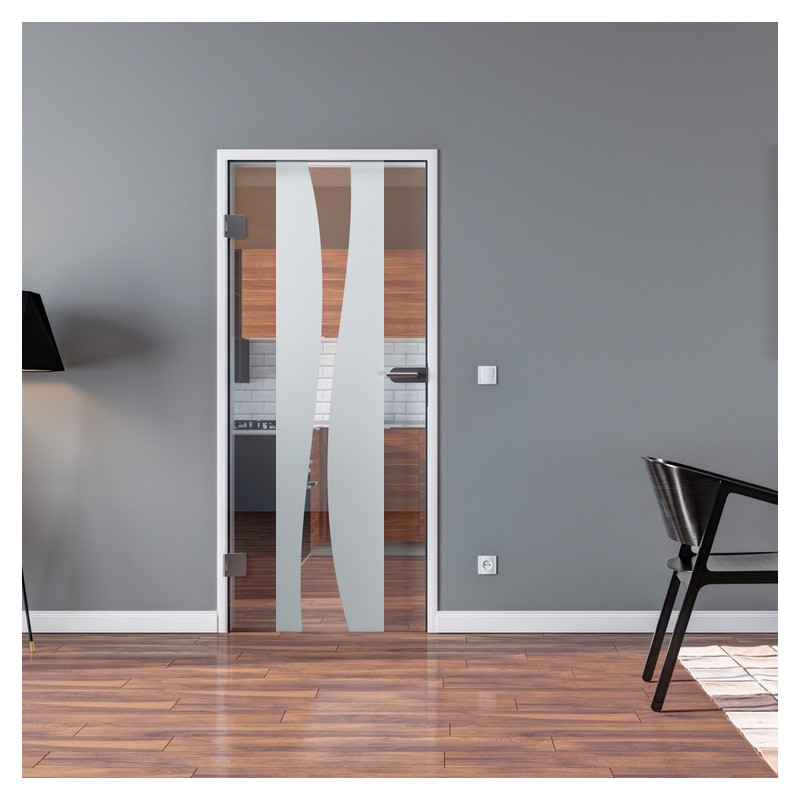 ganzglast r dreht r aus esg glas in berlin design mit klarglas anteil f r studio griff und. Black Bedroom Furniture Sets. Home Design Ideas