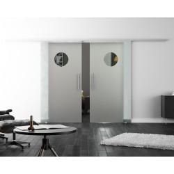 Levidor SoftClose-Schiebetür ProfiSlide Design Guckloch 2 Glasscheiben