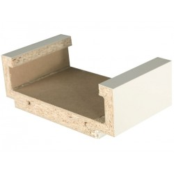 Garant Zarge Holz Glattkante Bekleidung 55 mm Weisslack RAL 9010