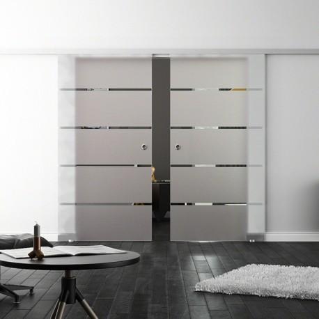 levidor softclose schiebet r profislide f nf waagerechte streifen s 2 glasscheiben. Black Bedroom Furniture Sets. Home Design Ideas