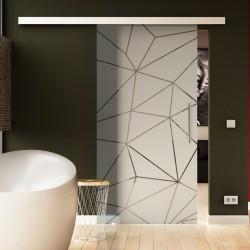 Schiebe Türe Glas Innen Komplettset Origami - Dessin