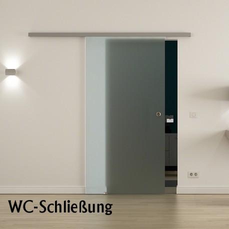 SoftClose WC-Schliessung Glasschiebetür Vollsatiniert Milchglas Schiebetür aus Glas - Levidor ProfiSlide