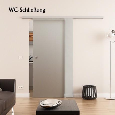 WC-Schliessung Dorma Muto 60 Glasschiebetür Vollsatiniert (V)