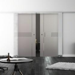 Levidor SoftClose-Schiebetür ProfiSlide Idea-Design (I) 2 Glasscheiben