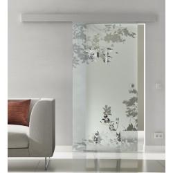 Glasschiebetür Glas Komplettset Softclose 1025 / 900 / 775 mm Breite Blätter