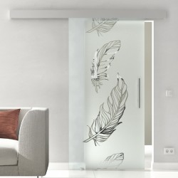Glasschiebetür Glas Komplettset Softclose 1025 / 900 / 775 mm Breite Federn