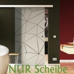 Glasschiebetür Scheibe Design Origami (O) Glas ESG in 8 mm